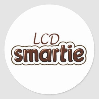 LCD Smartie Logo Classic Round Sticker