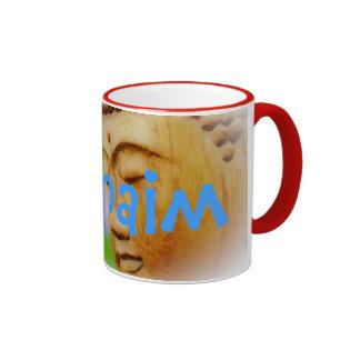 L'Chaim Buddhist Judaism Ringer Coffee Mug