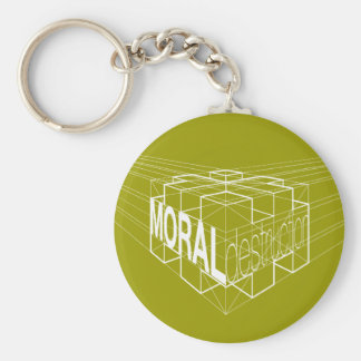 LD/MD - Moral Destruction in Negative Basic Round Button Keychain