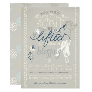 LDS BLESSING INVITATION | Boy Bunny Collection