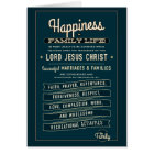 LDS Family Proclamation excerpt. greeting card. Card