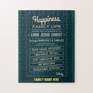 LDS Family Proclamation puzzle. (CUSTOMIZE IT) Jigsaw Puzzle