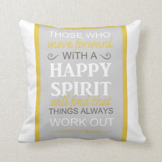 lds inspiratinal gordon b hinckley quote Pillows