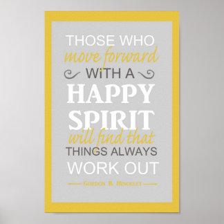 lds inspiratinal gordon b hinckley quote poster