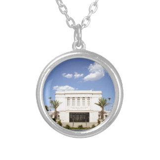 lds mesa arizona temple mormon picture silver plated necklace