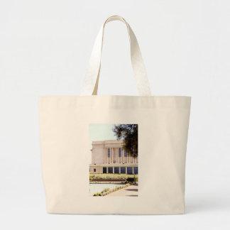 lds mormon mesa arizona temple picture large tote bag
