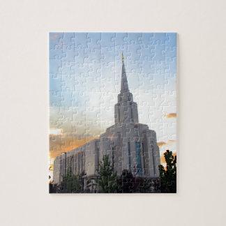 LDS mormon Oquirrh Mountain Utah temple Jigsaw Puzzle