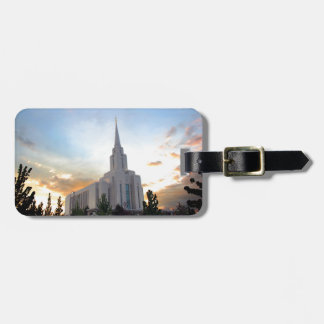 LDS mormon Oquirrh Mountain Utah temple Luggage Tag