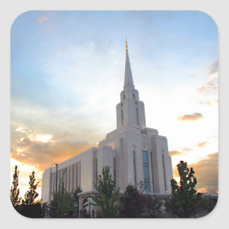 LDS mormon Oquirrh Mountain Utah temple Square Sticker