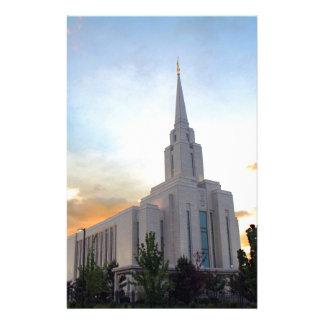 LDS mormon Oquirrh Mountain Utah temple Stationery Design