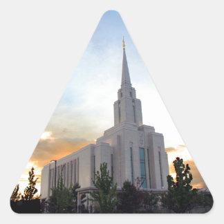 LDS mormon Oquirrh Mountain Utah temple Triangle Sticker