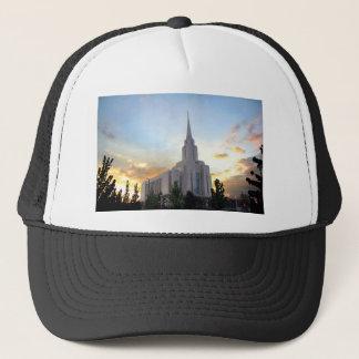 LDS mormon Oquirrh Mountain Utah temple Trucker Hat