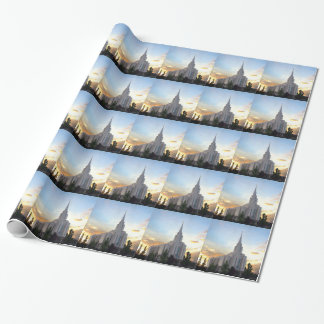 LDS mormon Oquirrh Mountain Utah temple Wrapping Paper