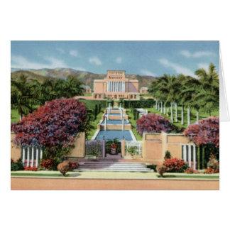 LDS Mormon Temple Laie Oahu Hawaii Card
