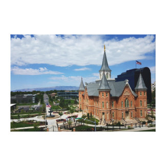 LDS Provo city center temple wrapped canvas