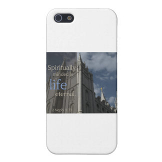 """LDS Quotes """"Spiritually Minded is Life Eternal"""" iPhone 5 Case"""