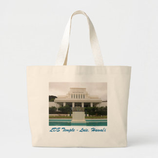 LDS Temple, Laie, Hawai'i. Large Tote Bag