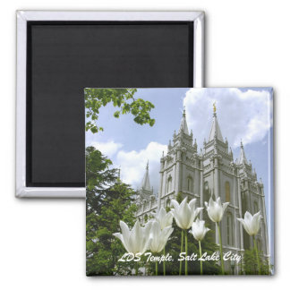 LDS Temple, Salt Lake City Square Magnet