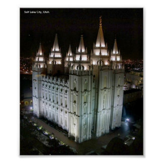 LDS Temple, Salt Lake City, Utah Poster