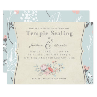 LDS TEMPLE SEALING CARD | Vintage Bicycle Love