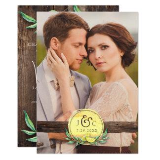 LDS TEMPLE WEDDING INVITATION | Rustic Wood Lemon