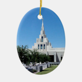 LDS Temples Ceramic Ornament
