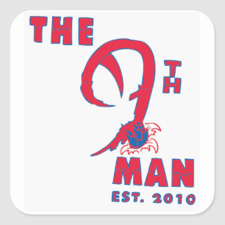 Le 9ème homme autocollants carrés