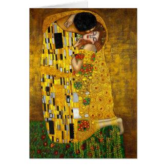 Le baiser par Gustav Klimt Carte De Correspondance