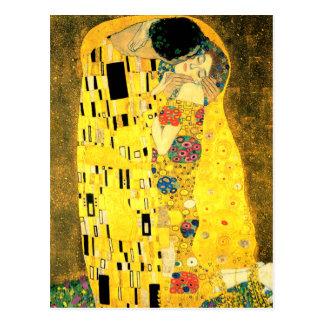 Le baiser par la carte postale de beaux-arts de