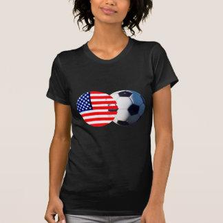 Le ballon de football et les Etats-Unis marquent T-shirt