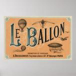 Le Ballon - French aeronautical journal 1883 Poster