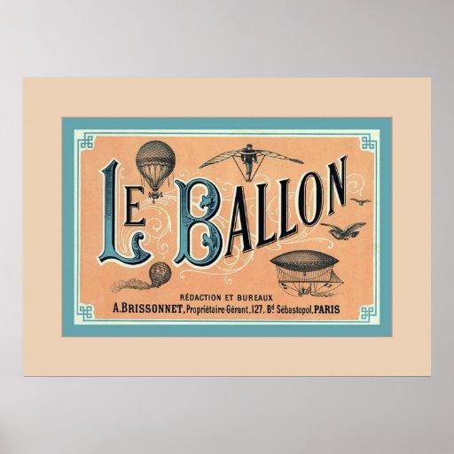 Le Ballon ~ Vintage Advertising Poster