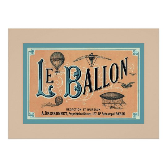 Le Ballon ~ Vintage Advertising Poster