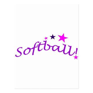 Le base-ball arqué avec des étoiles cartes postales