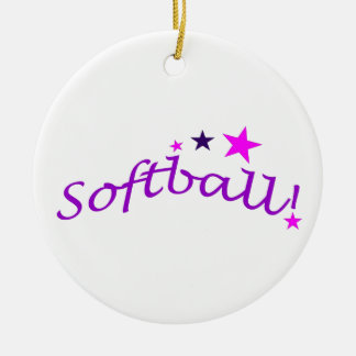Le base-ball arqué avec des étoiles ornement rond en céramique