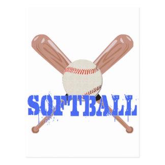 Le base-ball avec des battes carte postale