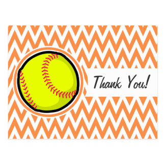 Le base-ball Chevron orange et blanc Cartes Postales