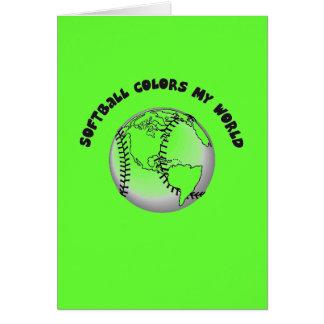 Le base-ball colore mon monde carte de correspondance