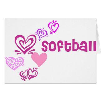 Le base-ball d amour cartes de vœux