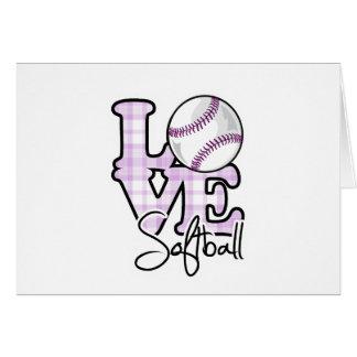 Le base-ball d'amour carte de vœux
