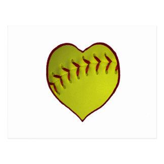 Le base-ball d'amour carte postale