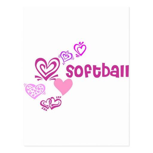 Le base-ball d'amour cartes postales
