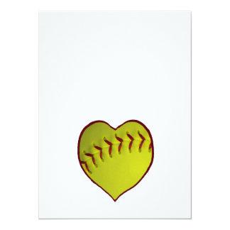 Le base-ball d'amour carton d'invitation  13,97 cm x 19,05 cm