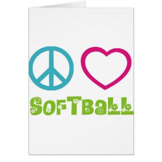 Le base-ball d'amour de paix carte de vœux