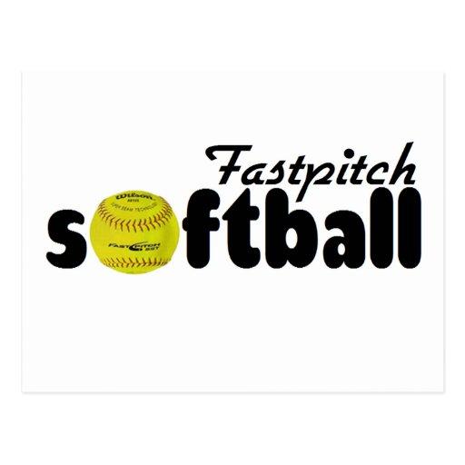 Le base-ball de Fastpitch Cartes Postales
