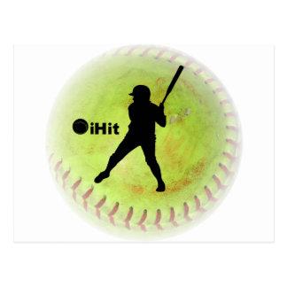 le base-ball de Fastpitch d'iHit Cartes Postales