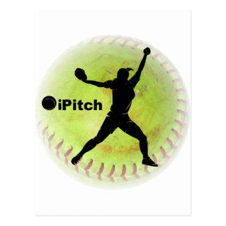 le base-ball de Fastpitch d'iPitch Carte Postale
