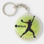 le base-ball de Fastpitch d'iPitch Porte-clé