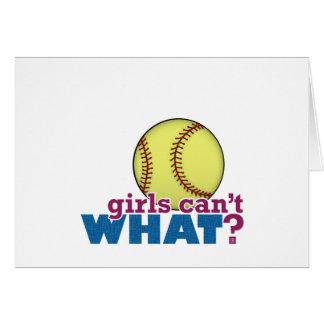 Le base-ball de filles carte de vœux