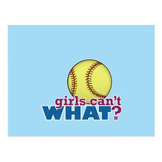 Le base-ball de filles cartes postales